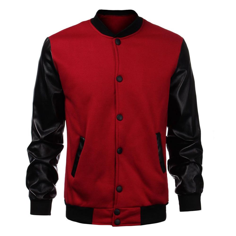 Online Get Cheap Red Leather Bomber Jacket Men -Aliexpress.com
