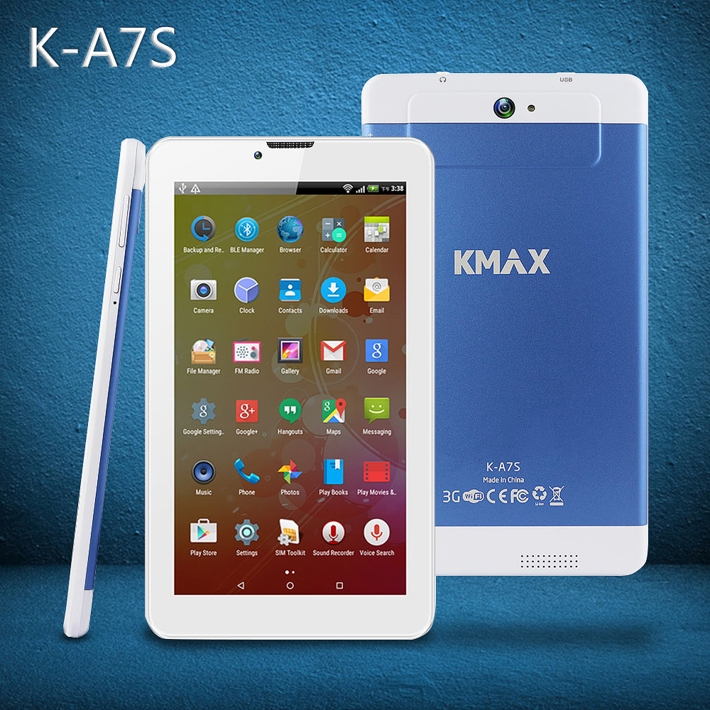 KMAX Tablet 7 inch IPS Quad Core MTK CPU Tablette Android 5.1 Built-in 3G Phone Call Dual SIM CardTablets PC GPS BT Dual Cameras(China (Mainland))