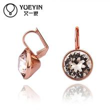 Wholesale 18K Gold Plated stud Earrings For Women engagement Wedding party Bridal Jewelry oorbellen auskarai Anniversary(China (Mainland))