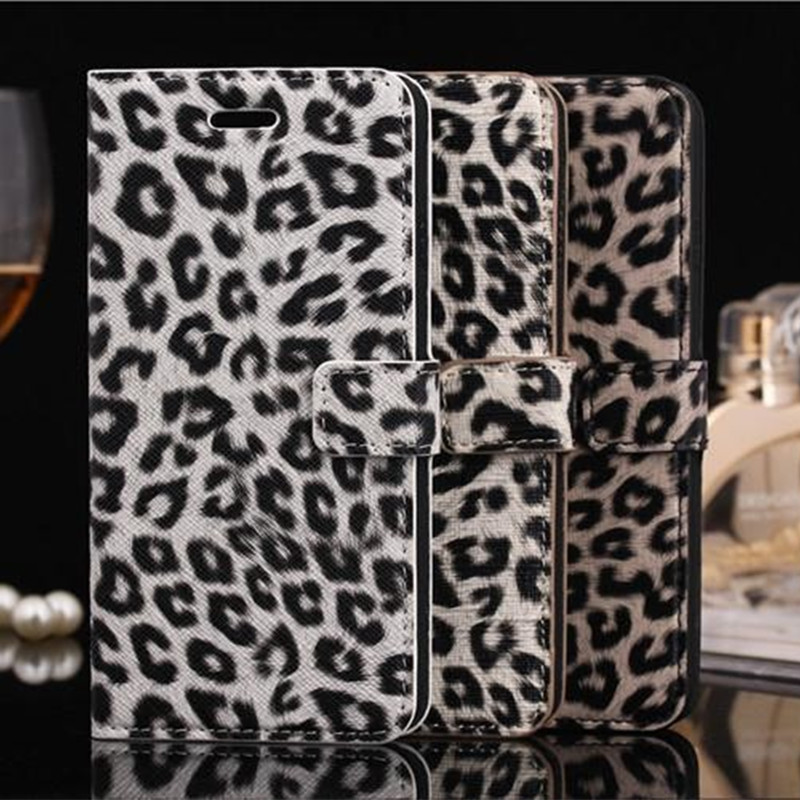 6G Plus Luxury Sexy Leopard PU Leather Case For iPhone 6 4.7inch Phone Bag Wallet Card Holder Flip stand Protective Cover(China (Mainland))