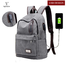 Buy 2017 Male Men Backpack College Student School Backpacks Bags Teenager Vintage Canvas Mochila Travel Daypack Casual Rucksack for $23.11 in AliExpress store