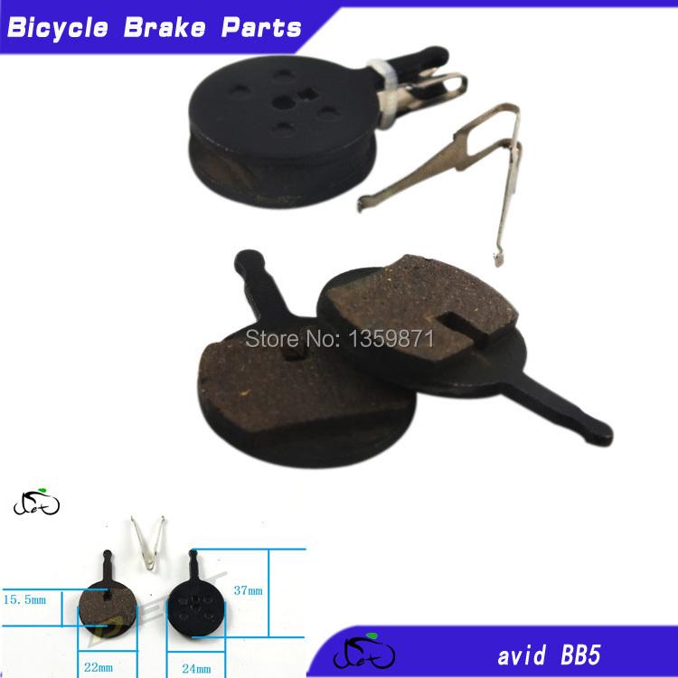 Mtb mountainbike remblokken schoenen fanatieke bb5 hydraulische schijfrem voeringen hars 4 paar/bag gratis verzending(China (Mainland))