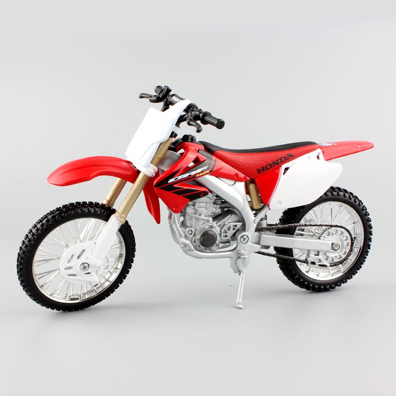 Maisto 1:12 scale Honda CRF 450R bike race automobiles die forged metallic tank automobiles fashions bikes hotwheels for kids toys