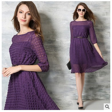 Lady Dress Casual Sundress Mandarin Collar O-Neck Elastic Short Sleeve Beach Mini Dresses Summer Vestidos Femininos