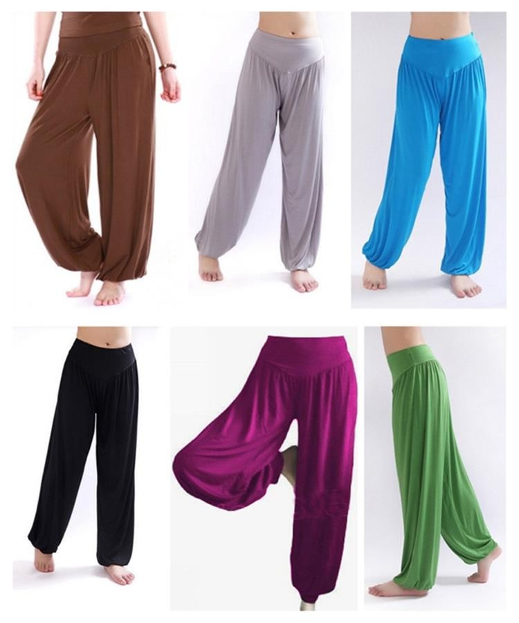 Yoga Pants Women Plus Size Colorful Bloomers Dance Yoga TaiChi Full Length Pants Smooth No Shrink Antistatic Pants Fast Shipping 2015 006
