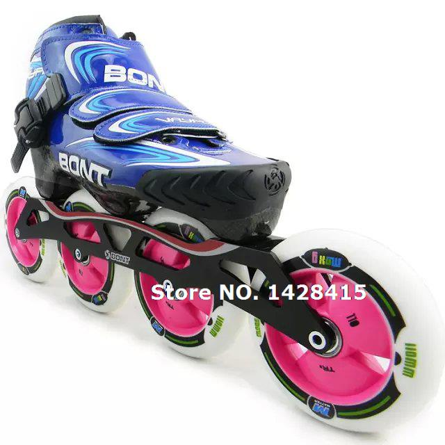 BONT Professional Adult's Inline Rollerblade Speed Roller Skates Shoes, Breathable Lace-Up Four Wheel Roller Skates For Children(China (Mainland))