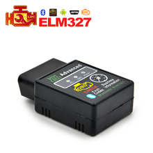 HH OBD Mini ELM327 Bluetooth Factory price elm327 V2.1 OBD2 Diagnostic Scanner Work on Android Symbian Windows ELM 327(China (Mainland))