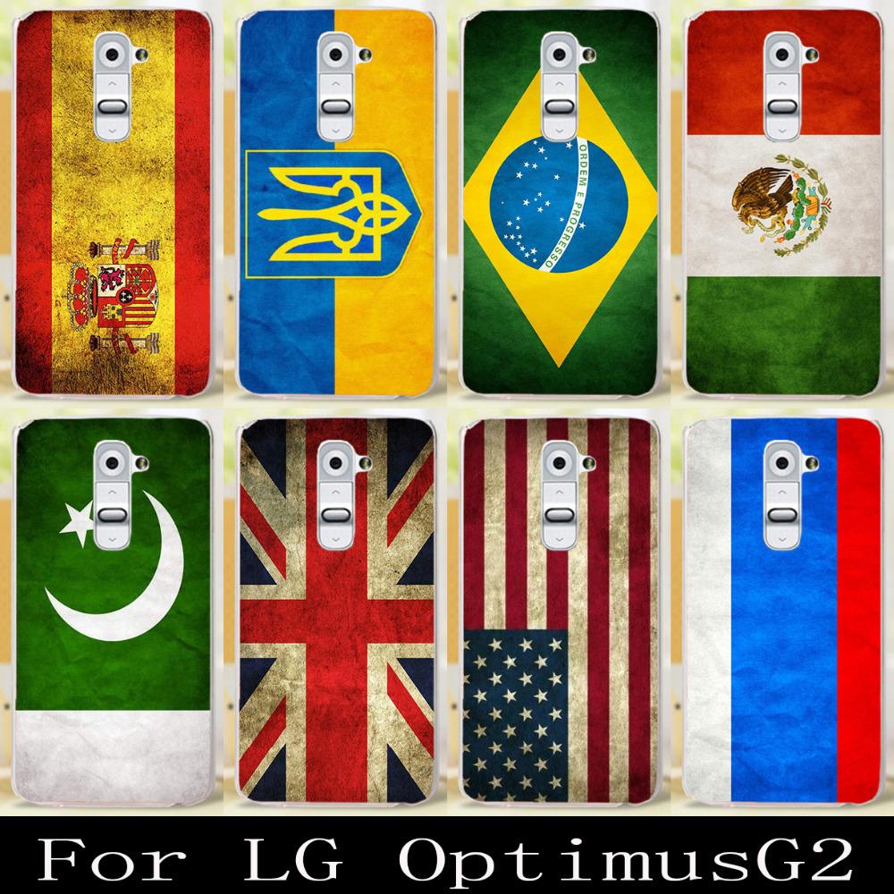 Classic Retro Color Spain Brazil Ukraine Mexico UK USA Russia Canada Israel Nation National Flag For LG Optimus G2 D802 D801(China (Mainland))