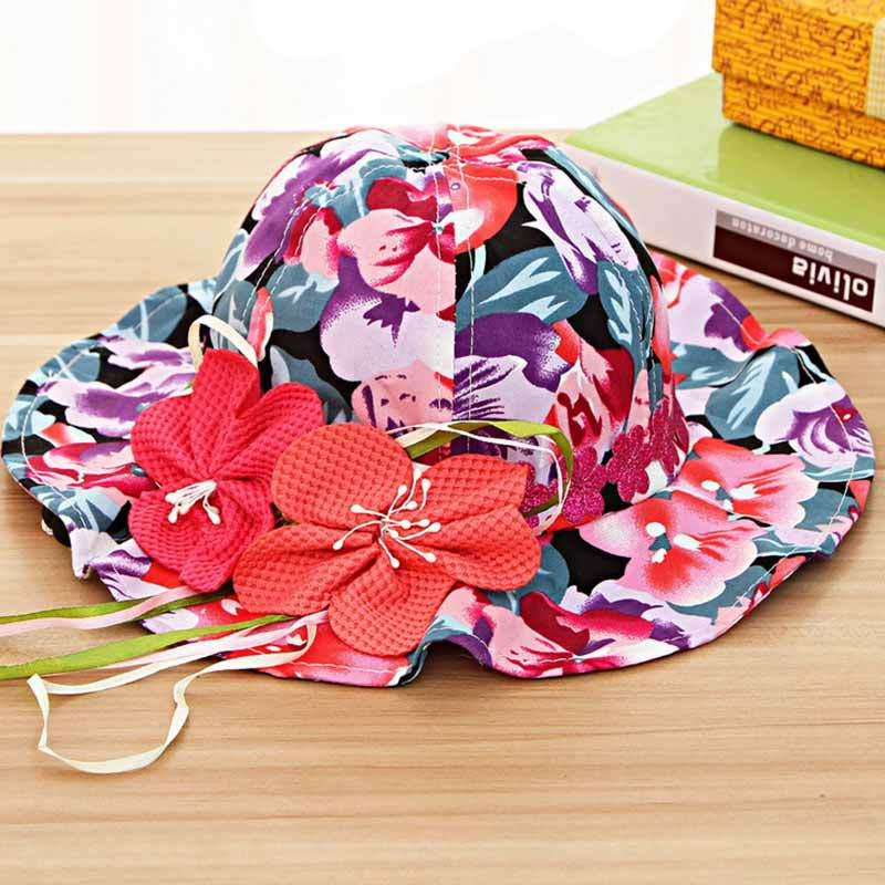 Fashion girl summer hat beautiful beach sun hat Straw Bucket Hat chapeu for kids sombrero(China (Mainland))