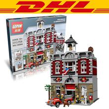 2016 New LEPIN 15004 2313Pcs City Creator Fire Brigade Model Building Kits Minifigures Blocks Bricks Compatible Toys Gift 10197(China (Mainland))