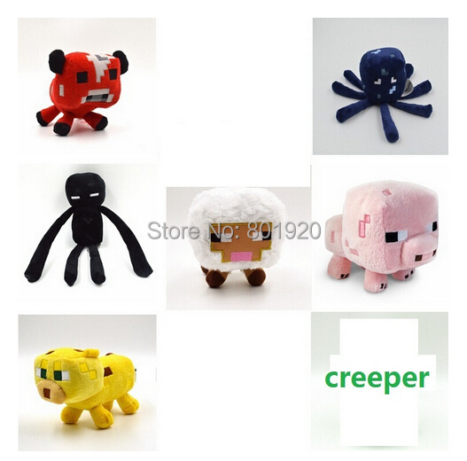 7pcs/lot Minecraft plush toy Brinquedos Game Toys Cheapest Sale Plush Toys Cartoon Game Toys, High Quality(China (Mainland))