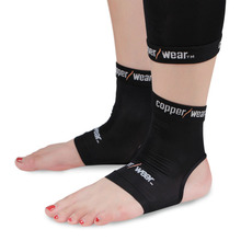 REGISTERED FREE SHIPPING  Highest Quality Copper Wear 1pc Ankle Support  Breathable Compression Outdoor Sports Gym Protector(China (Mainland))