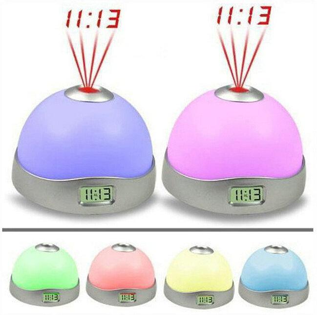 Novelty LED Projector clock horloge Time projection despertador alarm clock colors changing digital clock(China (Mainland))