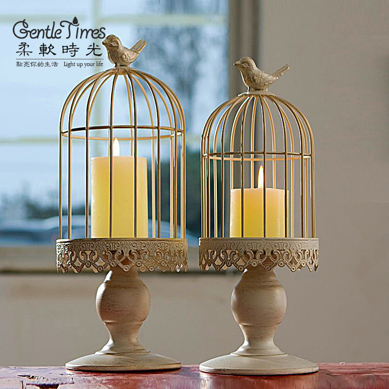 Hot Sale Classic Metal Vintage Bird Cage Tealight Stand Hook Lantern Hanging Candle Holder Table Wedding Decor(China (Mainland))
