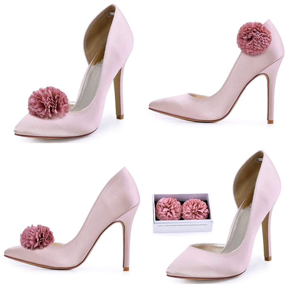 HC1601 Women's Dress Prom Court Pumps Pointed Toe D'orsay Stiletto Heels Satin Wedding Bridal Shoes(China (Mainland))