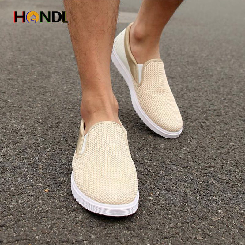 Best Selling Men Casual Shoes Summer Shoes Breathable Male Shoes Pedal Zapatos Hombres Slip-On Men Shoes H168 Chaussures Hommes(China (Mainland))