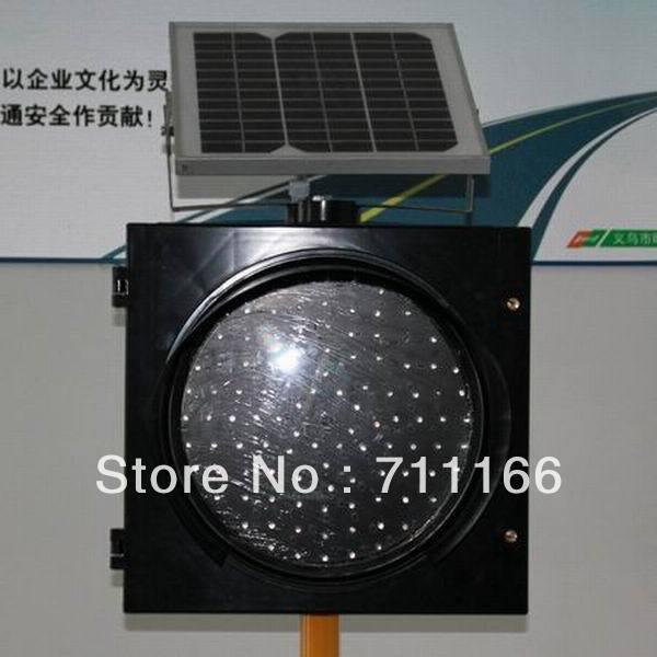 2014  hot sale 300mm LED yellow solar flashing light