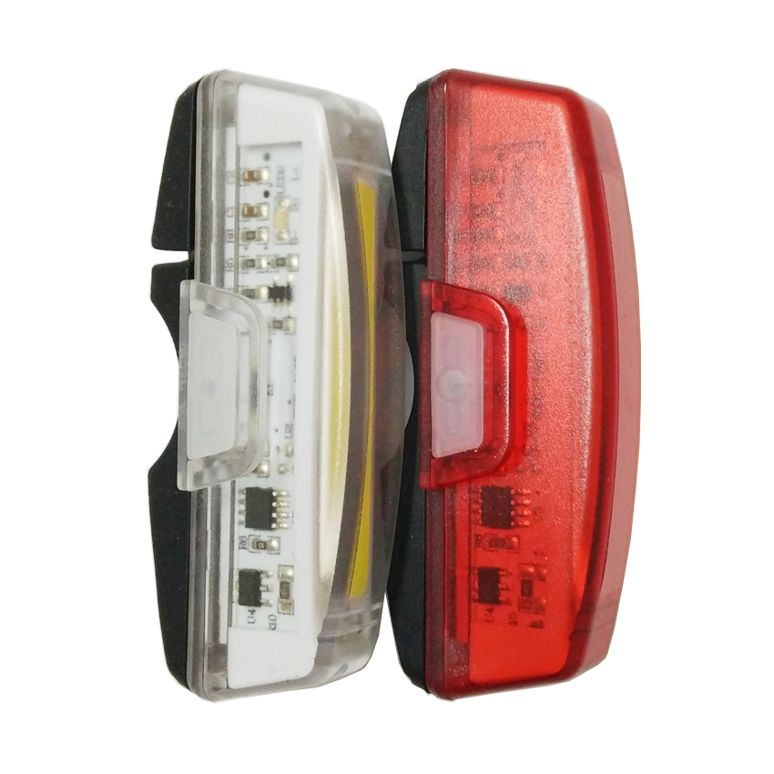 USB Rechargeable Bike Front/Rear Light Head Torch Night Tail Flashlight Cycling Bicycle Safety Warning Lamp Lighting Waterproof