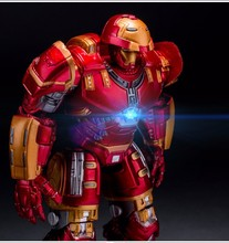 7inch The Avengers Marvel Iron Man PVC  Anime Figure  Action Toy Figures Christmas Gift AD839(China (Mainland))