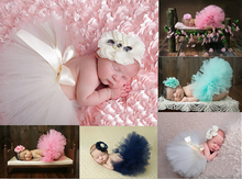 new baby girl ball gown skirt + Headbands,8 colors age 0-3M Chiffon Tutu skirt Baby Girls Bubble Skirt .newborn Photography Prop(China (Mainland))