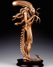 "OGRM Bronze New Fine 24"" Handmade Bronze AVP 1:4 Alien Whole Body Large Statue Model Decoration Metal Crafts Figure(China (Mainland))"
