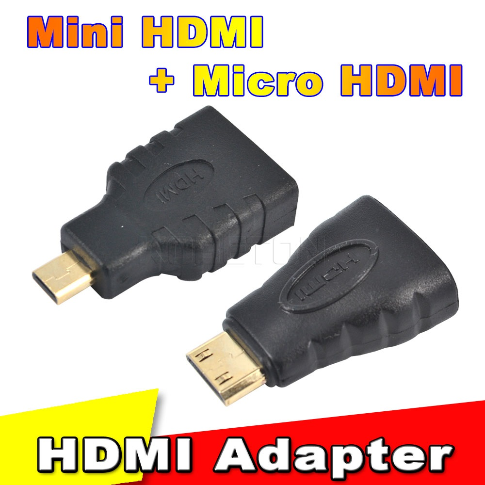 Hot 1Set HDMI to Mini HDMI to Micro HDMI HD Gold plating TV Adapter Converter For Xbox 360 For PS3 HDTV For HTC Evo Mobile Cable(China (Mainland))