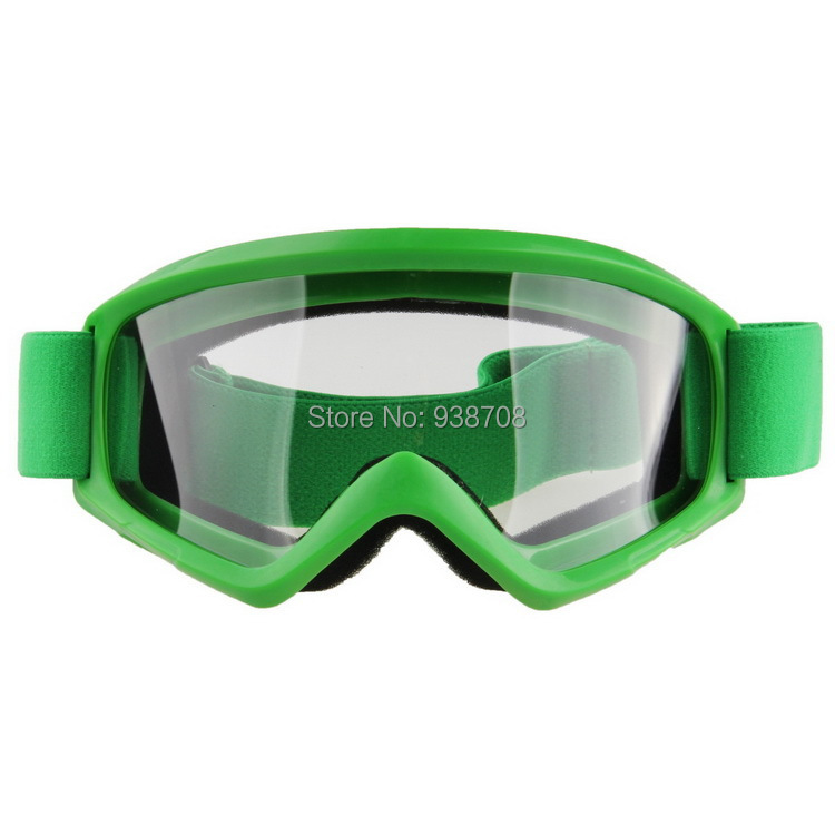 Hot Sale High Quality Adult Green Frame Clear Lens Outdoor Sport Ski Snowboard Motorcycle Off-Road Motocross Goggles Eyewear(China (Mainland))