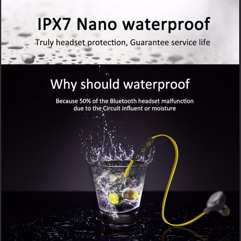 ihens5 U5 Plus Bluetooth Magnetic Earphone Wireless Auriculares IPX7 Waterproof Bluetooth Headphones for Swimming Running Gym