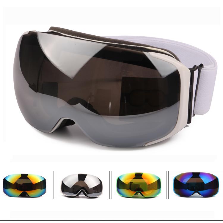 Ski Goggles Magnets Installed Lens, Anti-burst Anti-fog Big Spherical Snowboard Glasses Wear Over RX Glasses Men Women Skiing(Ch