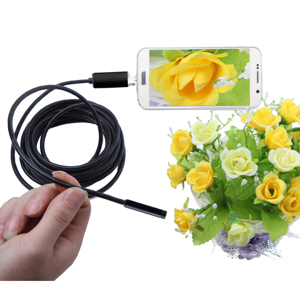 10mm Lens USB Endoscope 4 LED Inspection Camera Pipe 2M Endoscope Mini USB Camera Mirror Hook As Gift Android Phone(China (Mainland))