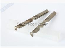 10 unids/set 2.5 mm CNC completo molido HSS M35 Co5 % de la torcedura pedacitos de taladro de perforación de Metal mango cilíndrico por SS / acero / acero fundido hierro alum