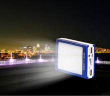 New 10000mAh Solor Power Bank with light Dual USB Solar Panel Charger Battery Powerbank 10000mAh with LED Camp Light(China (Mainland))