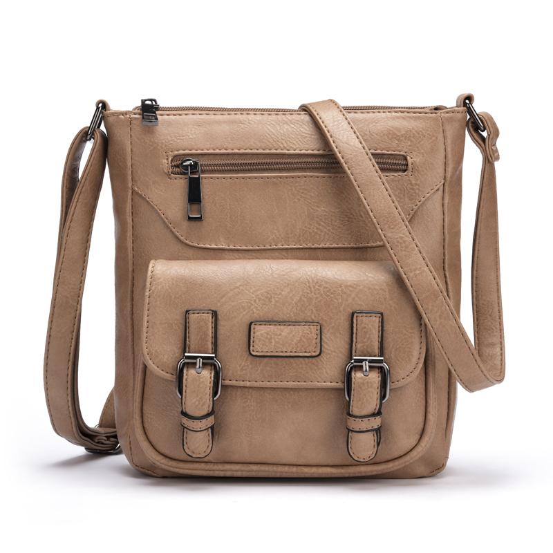 2016 new fashion cross body bags women messenger bag brand desigenr PU leather female bolosa purse handbag shoulder bag(China (Mainland))