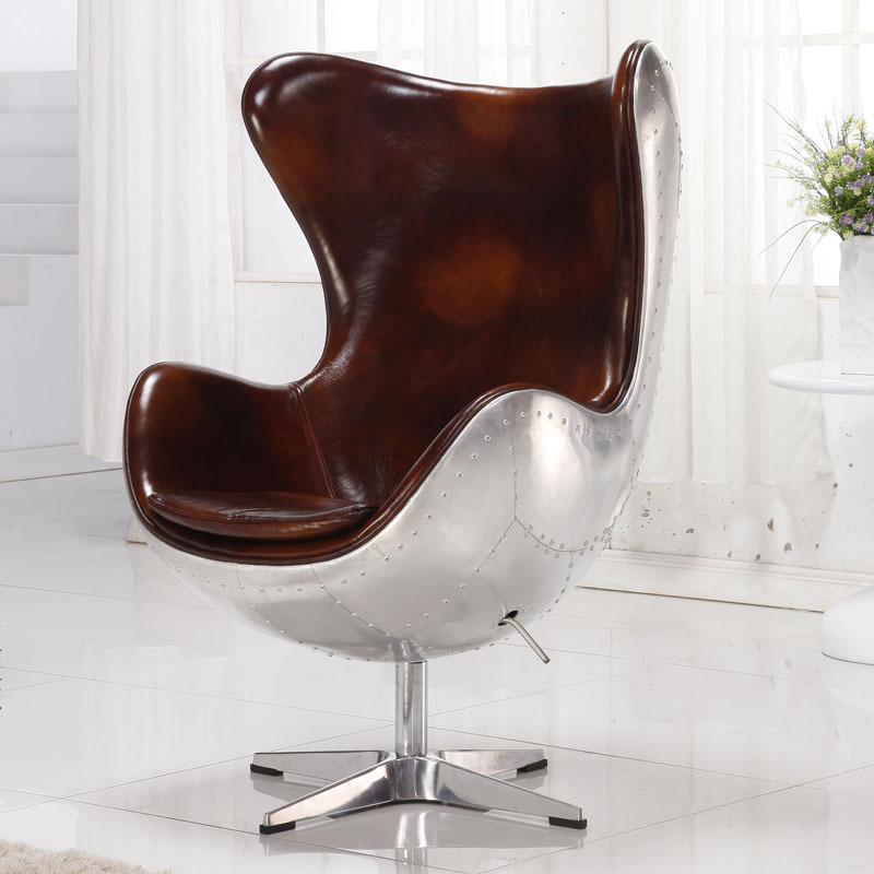 online kopen wholesale egg chair leder uit china egg chair. Black Bedroom Furniture Sets. Home Design Ideas