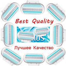 Brand New 8 Pcs/lot High Quality Blade To Female Razor Sharpener Shaving Razor Blades for Women Care Venuse(China (Mainland))