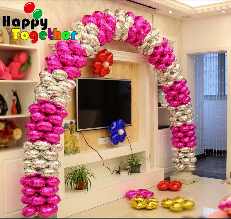 Здесь можно купить  SMILE MARKET 2015 Hot Sale 50 Pieces Wedding Party Decorations 18 inch Clover Inflatable Foil Arch Balloons  Дом и Сад