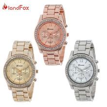 AliExpress  Confianza 3 colores cuarzo reloj hombre mujer Faux Chronograph CRT plateado Geneva Ladies reloj Relogio Metal relojes hombre SV78