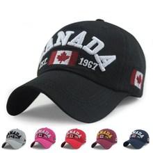 Wholesale Retail Classic Fashion Cotton Sports Baseball Cap Canada America Flag Caps For Men Women Summer Gorras Free Shipping(China (Mainland))