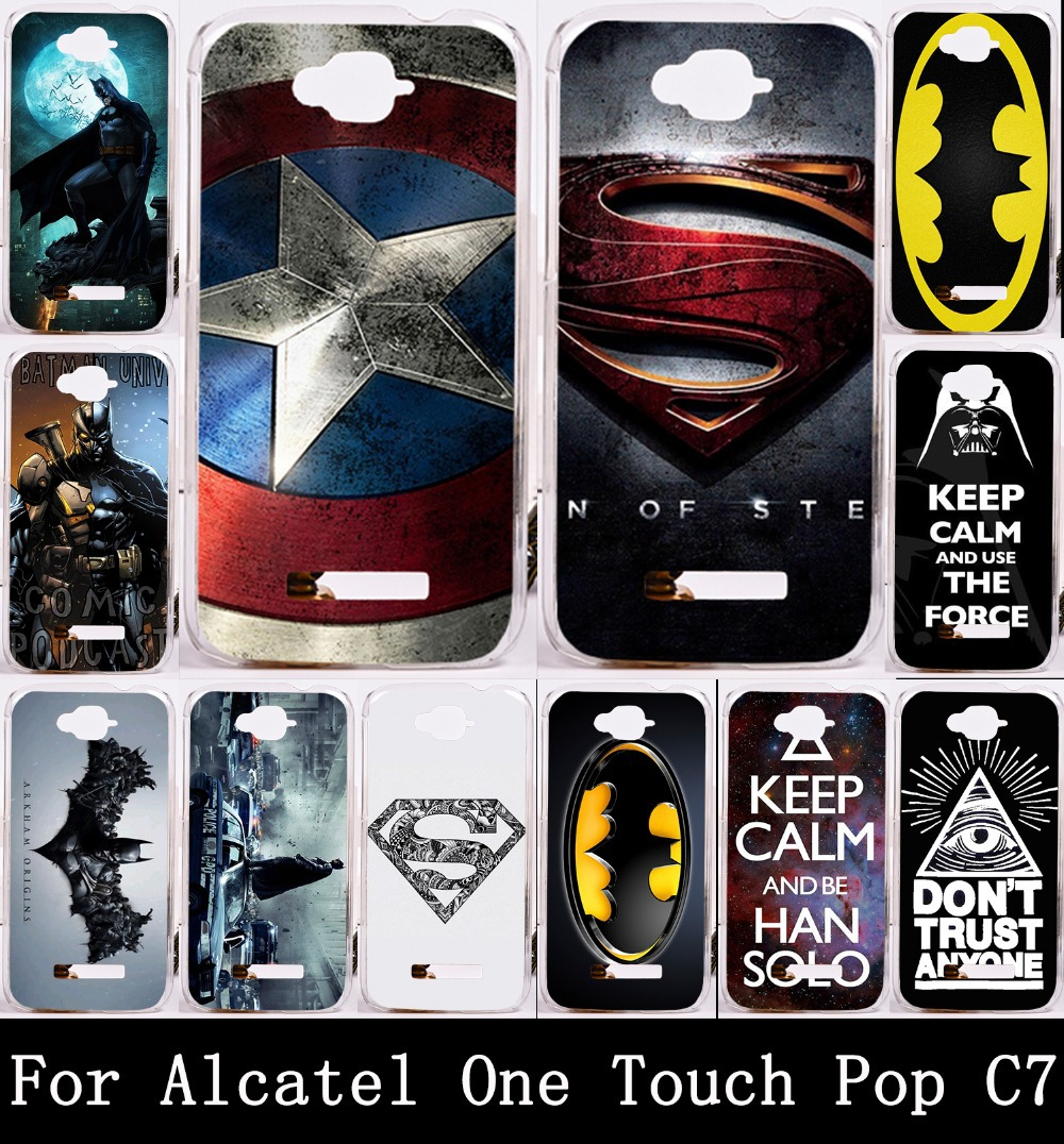 Гаджет  Cool Captain American Batman Painting Hard PC PC Phone Case For Alcatel One Touch POP C7 OT 7041D OT 7040D Shell Back Cover None Телефоны и Телекоммуникации