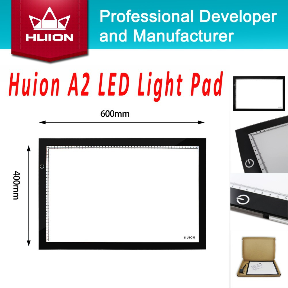 New Huion A2 LED Tracing Boards High Quality Ultra Thin Light Pad Professional Animation Tatoo Tracing Light Boxes Free Shipping(China (Mainland))