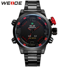 Hot WEIDE Watches Men's Casual Watch Multi-function Led Watches Men Dual Time Zone With Alarm Sports Diver Quartz Wristwatches