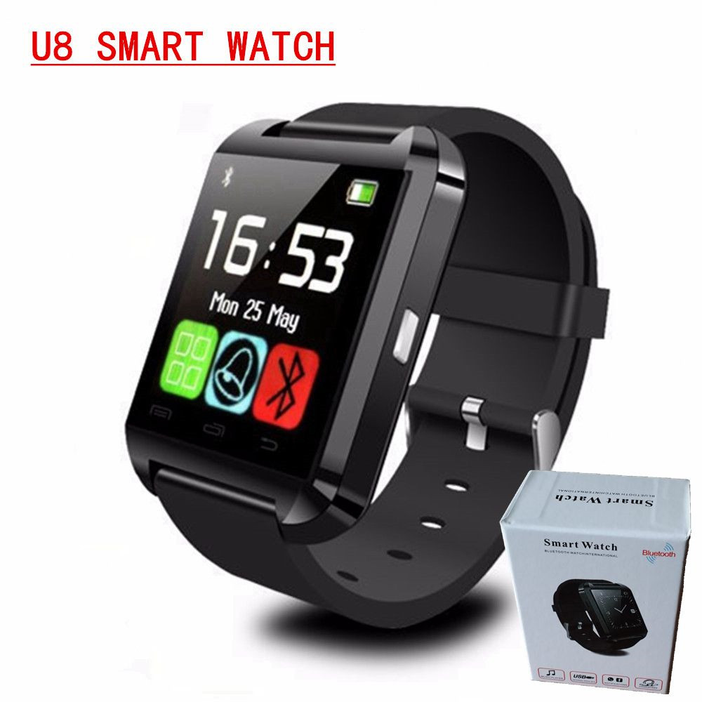 2015 new bluetooth watch wristwatch U8 smart watch U Watch for  Android Smartphones and IOS phones, Support Sync Call Message