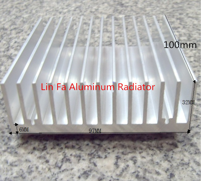 Heat sink/Aluminum radiator/Aluminum/High power computer case radiator high power aluminum radiator 100(L)*97(w)*32(h)<br><br>Aliexpress