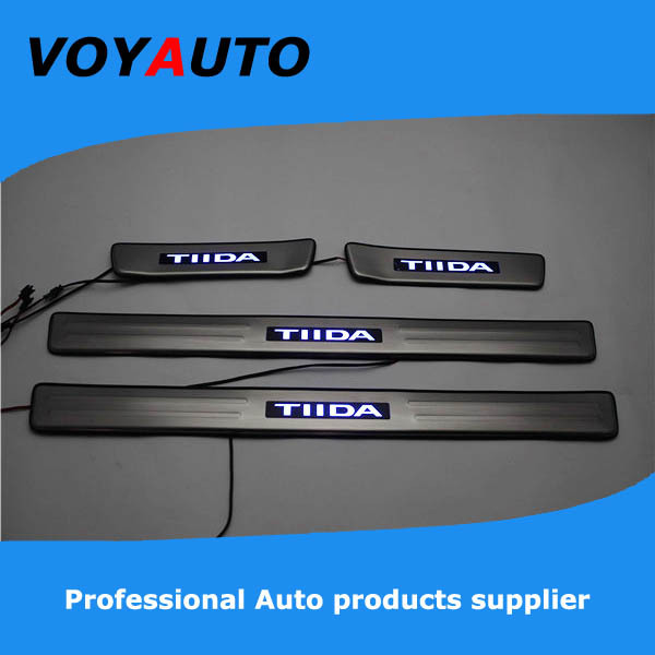 Stainless Steel NISSAN TIIDA LED Scuff Plate,Led Door Sill Plate, Led - VOYAUTO CO.,LTD store