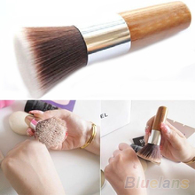 Flat Top Buffer Foundation Powder Brush Cosmetic Makeup Basic Tool Wooden Handle  028M
