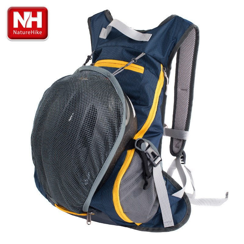 NatureHike 15L Waterproof Backpack ultralight Rucksack Cycling Bike Camping Climbing Hiking travel bag with Helmet net