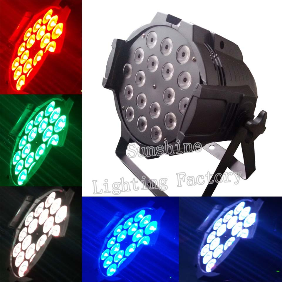 4pcs/lot 18*10W RGBW Led DJ Disco Party Club Stage Lighting Effects Free Shipping(China (Mainland))