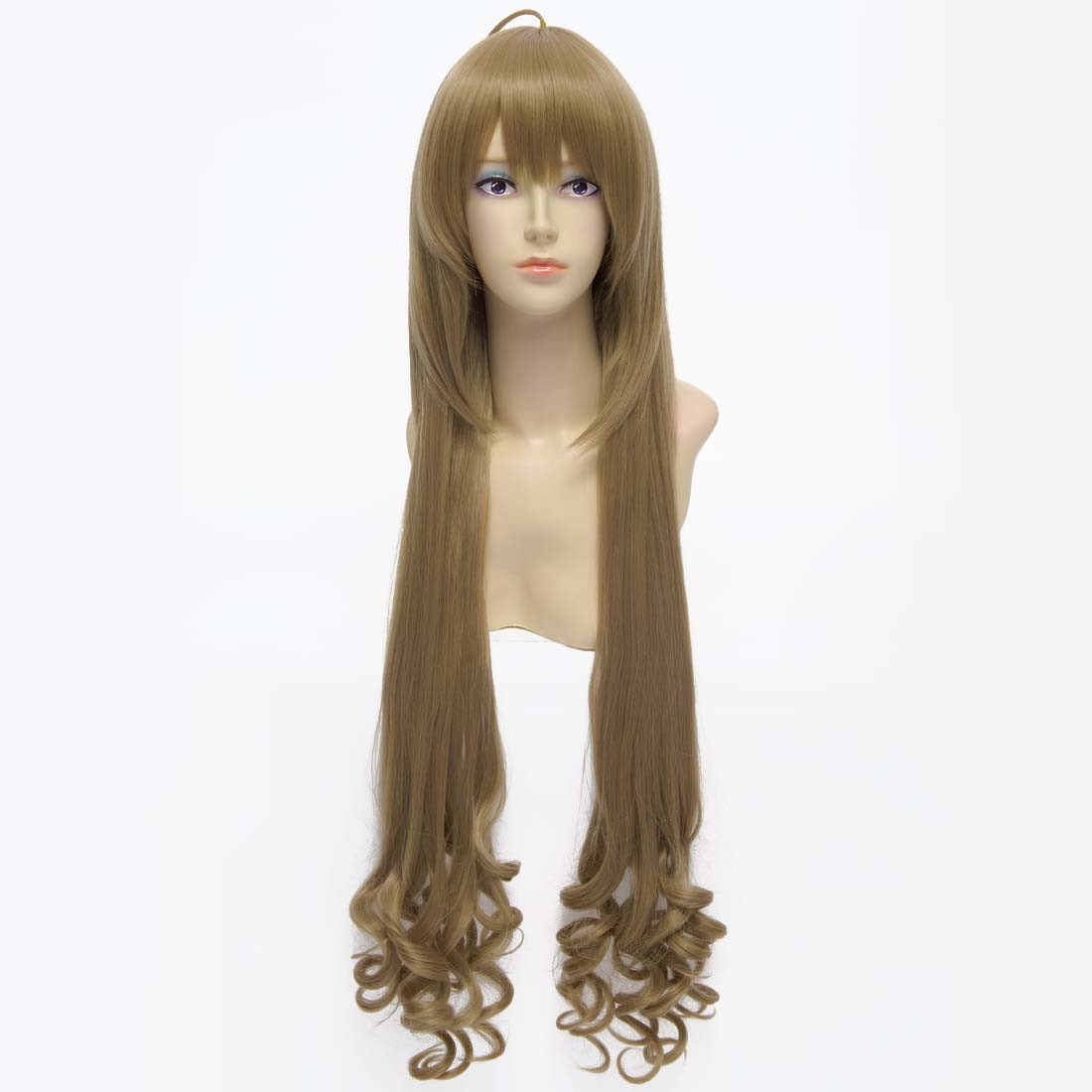 80cm Brown Straight Long Synthetic Full Cosplay Costume Anime Fancy-dress Wig