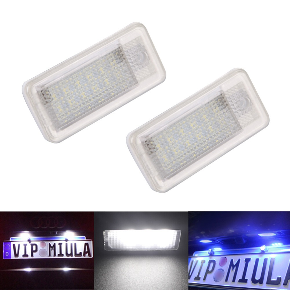 White LED License Plate Light Lamp For Audi A3 A4 A6 S6 A8 Q7 Canbus Error License LED Light Lamp(China (Mainland))
