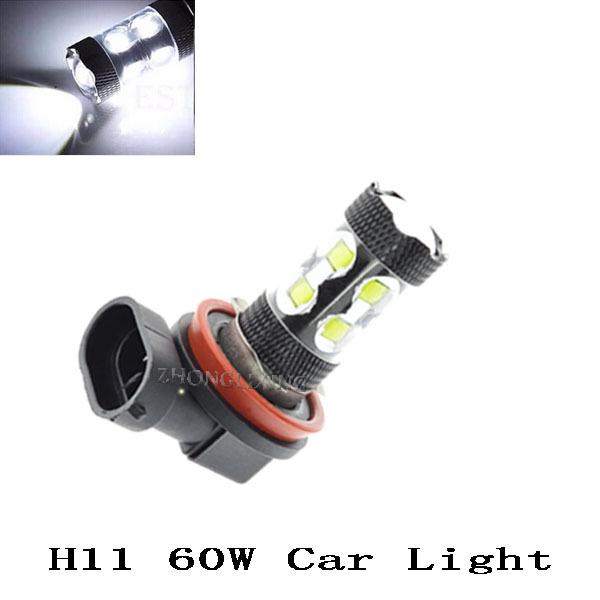 Гаджет  2x H11 LED CREE 12V-24V 60W High Power Auto LED Fog Lamp Light DRL Daytime Running Light Bulb None Автомобили и Мотоциклы